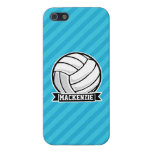Volleyball; Sky Blue Stripes Cover For iPhone SE/5/5s