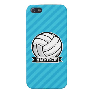 Volleyball; Sky Blue Stripes Case For iPhone 5