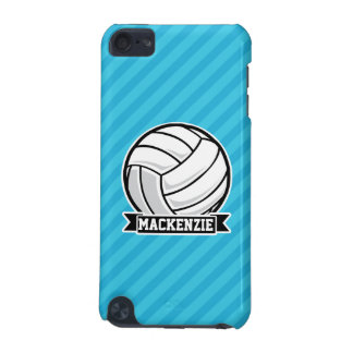 Volleyball; Sky Blue Stripes iPod Touch (5th Generation) Cover