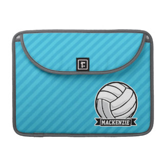Volleyball; Sky Blue Stripes MacBook Pro Sleeve