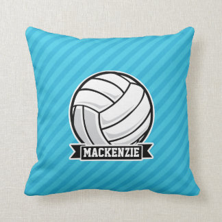 Volleyball; Sky Blue Stripes Throw Pillow