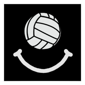 Volleyball Smile Poster