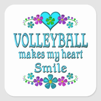 Volleyball Smiles Square Sticker