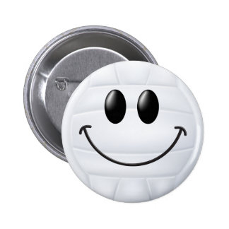 Volleyball Smiley Face.png Pin