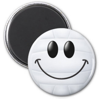 Volleyball Smiley Face.png Magnet