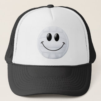 Volleyball Smiley Face Trucker Hat