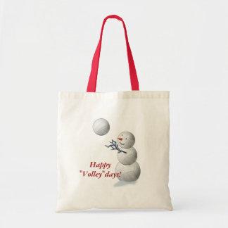 Volleyball Snowman Christmas Bag