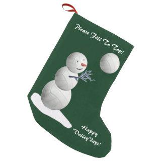 Volleyball Snowman Christmas Small Christmas Stocking