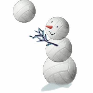 volleyball snowman cutout