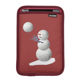 Volleyball Snowman iPad Mini Sleeve