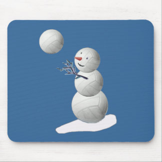 Volleyball Snowman Mouse Pad