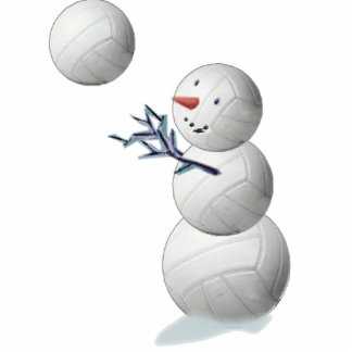 volleyball snowman cut outs