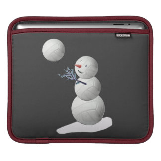 Volleyball Snowman Sleeve For iPads