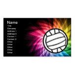 Volleyball; Spectrum Business Card Template