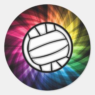 Volleyball; Spectrum Classic Round Sticker