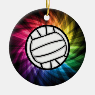 Volleyball Spectrum Christmas Ornament