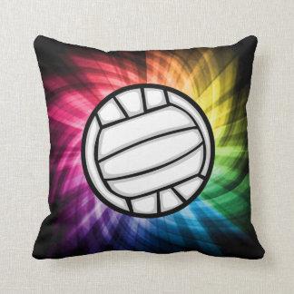 Volleyball; Spectrum Throw Pillow