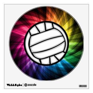 Volleyball; Spectrum Wall Sticker
