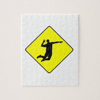Volleyball Spike Crossing Sign Puzzle