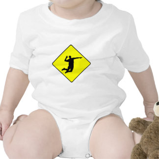 Volleyball Spike Crossing Sign T Shirts