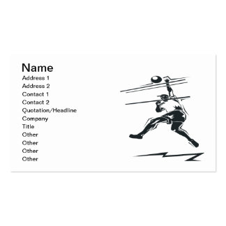 Volleyball Spike Double-Sided Standard Business Cards (Pack Of 100)