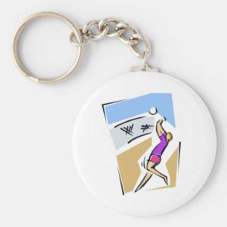 Volleyball spike girl keychain