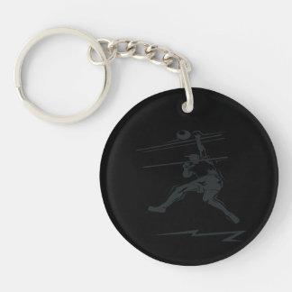 Volleyball Spike Keychain
