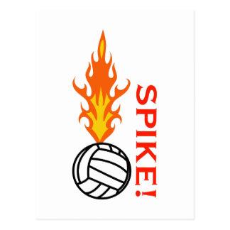 VOLLEYBALL SPIKE POSTCARD