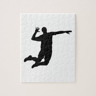 Volleyball Spike Silhouette Puzzles