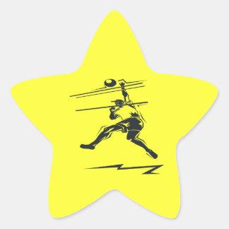 Volleyball Spike Star Sticker