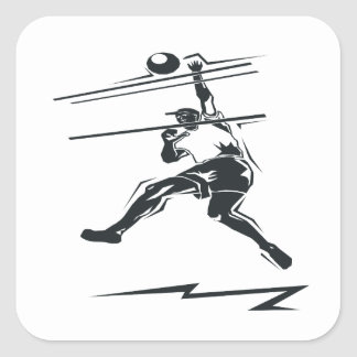 Volleyball Spike Square Sticker