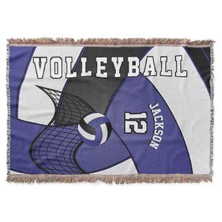 Volleyball Sport Ball in Dark Blue, White & Black Throw