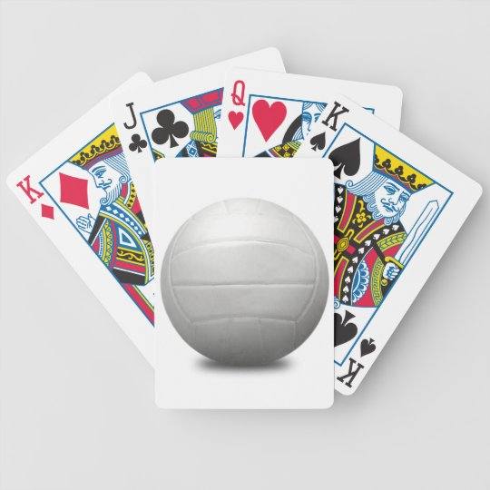 VOLLEYBALL SPORTS FUN BEACH SUMMER BALLS GRAPHICS BICYCLE PLAYING CARDS