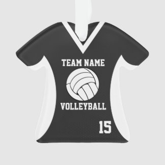 Volleyball Sports Jersey Black with Photo Ornament