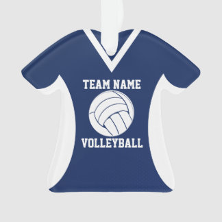 Volleyball Sports Jersey Blue Ornament