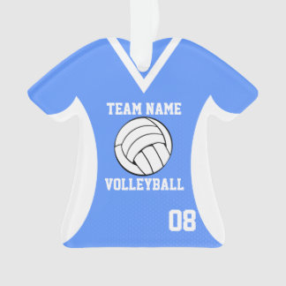 Volleyball Sports Jersey Blue with Photo Ornament