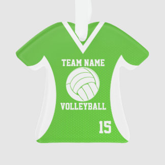 Volleyball Sports Jersey Green with Photo