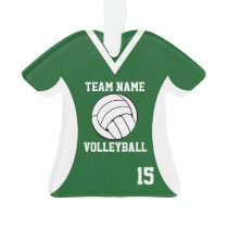Volleyball Sports Jersey Green with Photo Ornament