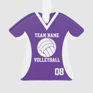 Volleyball Sports Jersey Purple with Photo Ornament