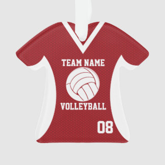 Volleyball Sports Jersey Red with Photo