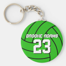 Volleyball Sports Team Keychain Customize Color at Zazzle