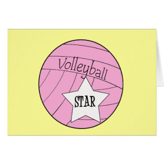 Volleyball Star Card