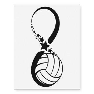 Volleyball Star Infinity Temporary Tattoo