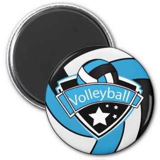 Volleyball Star Player  Baby Blue, Black and White Magnet