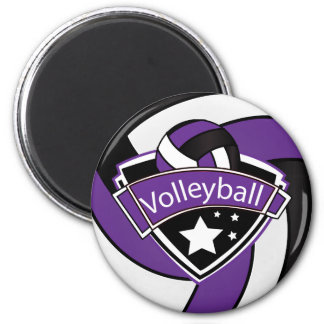 Volleyball Star Player - Purple, White and Black Magnet