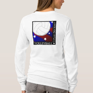 Volleyball Stars & Stripes Womens Long Sleeve T-Shirt