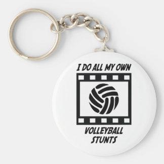 Volleyball Stunts Keychain