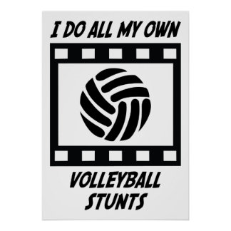 Volleyball Stunts Poster