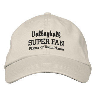 Volleyball Super Fan Custom Sport Team Player Name Embroidered Baseball Cap