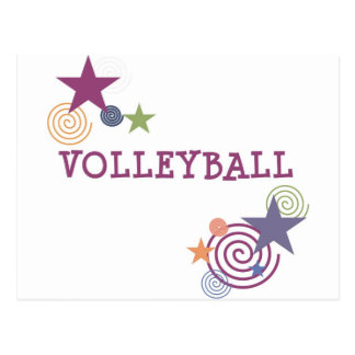 Volleyball Swirl Postcard